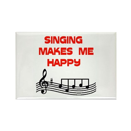 SINGING Rectangle Magnet (100 pack)