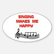 SINGING Oval Decal