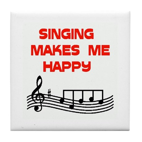 SINGING Tile Coaster