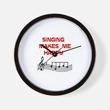 SINGING Wall Clock