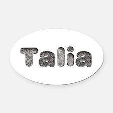 Talia Wolf Oval Car Magnet