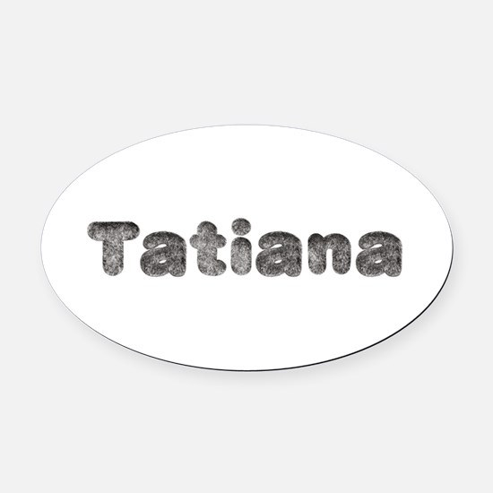 Tatiana Wolf Oval Car Magnet