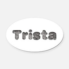 Trista Wolf Oval Car Magnet
