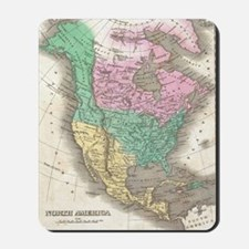 Vintage Map of North America (1827) Mousepad