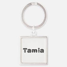 Tamia Wolf Square Keychain