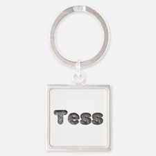 Tess Wolf Square Keychain
