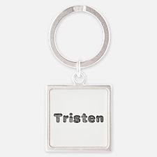 Tristen Wolf Square Keychain
