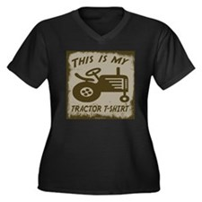 My Tractor T-Shirt Women's Plus Size V-Neck Dark T