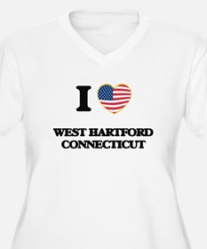 I love West Hartford Connecticut Plus Size T-Shirt