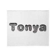 Tonya Wolf Throw Blanket