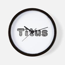 Titus Wolf Wall Clock