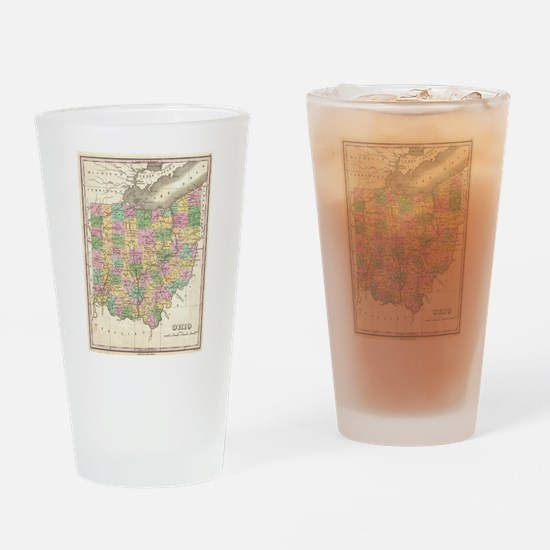 Vintage Map of Ohio (1827) Drinking Glass
