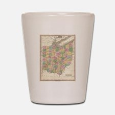 Vintage Map of Ohio (1827) Shot Glass