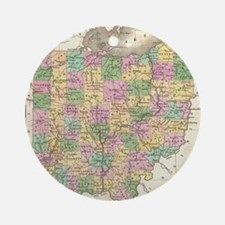 Vintage Map of Ohio (1827) Round Ornament