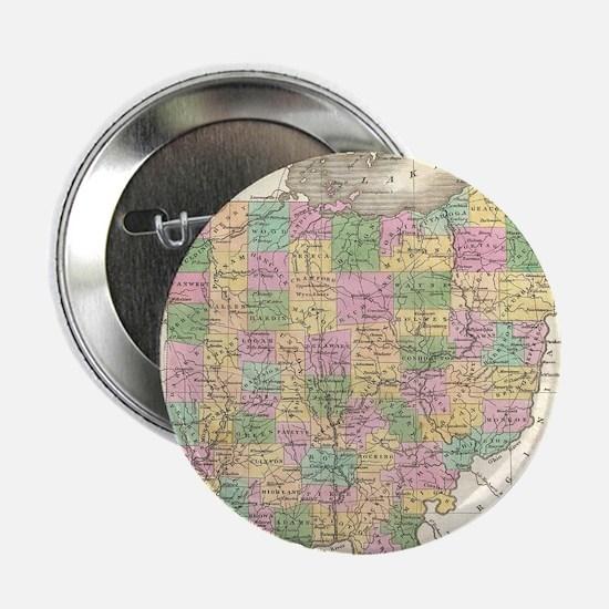 "Vintage Map of Ohio (1827) 2.25"" Button"