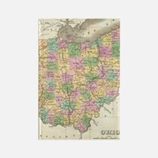 Vintage Map of Ohio (1827) Rectangle Magnet