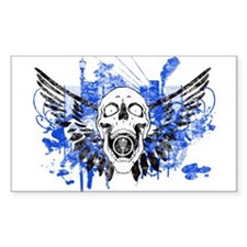 Flying Skull Distressed Decal