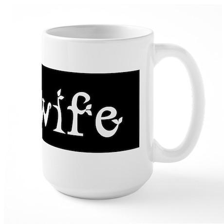 Midwife Black and White Large Mug