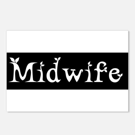 Midwife Black and White Postcards (Package of 8)