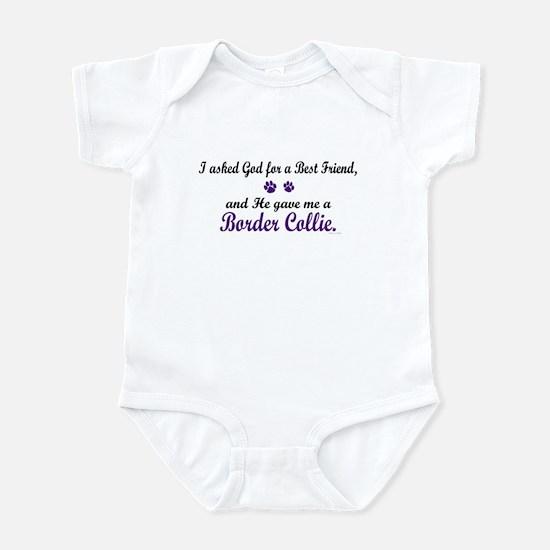 God Gave Me A Border Collie Infant Bodysuit