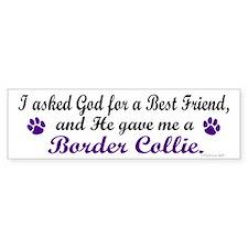 God Gave Me A Border Collie Bumper Bumper Sticker