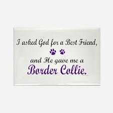 God Gave Me A Border Collie Rectangle Magnet