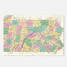 Vintage Map of Pennsylvan Postcards (Package of 8)