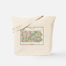 Vintage Map of Pennsylvania (1827) Tote Bag