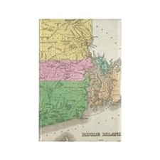 Vintage Map of Rhode Island (1827 Rectangle Magnet