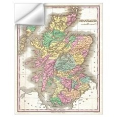 Vintage Map of Scotland (1827) Wall Decal