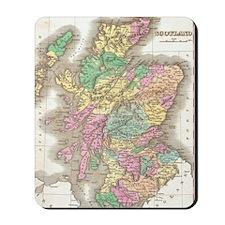 Vintage Map of Scotland (1827) Mousepad