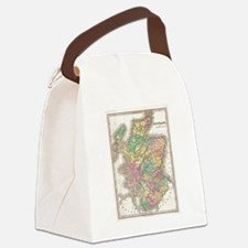 Vintage Map of Scotland (1827) Canvas Lunch Bag