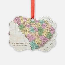 Vintage Map of South Carolina (18 Ornament