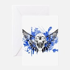 Flying Skull Distressed Greeting Cards