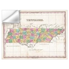 Vintage Map of Tennessee (1827) Wall Decal