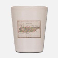 Vintage Map of Tennessee (1827) Shot Glass