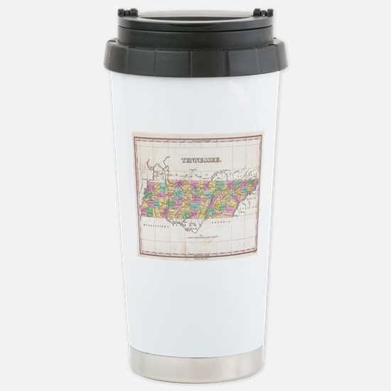 Vintage Map of Tennesse Stainless Steel Travel Mug