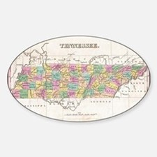 Vintage Map of Tennessee (1827) Decal