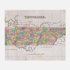 Vintage Map of Tennessee (1827) Throw Blanket