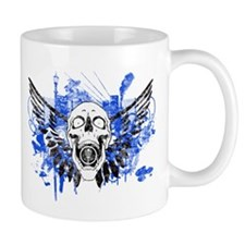 Flying Skull Distressed Mugs