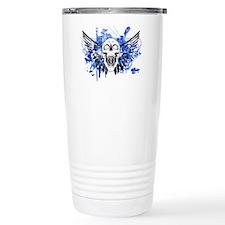 Flying Skull Distressed Travel Mug