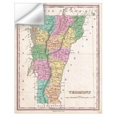 Vintage Map of Vermont (1827) Wall Decal
