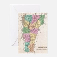 Vintage Map of Vermont (1827) Greeting Card