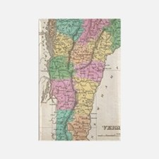 Vintage Map of Vermont (1827) Rectangle Magnet