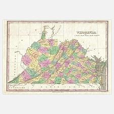 Vintage Map of Virginia (1827)