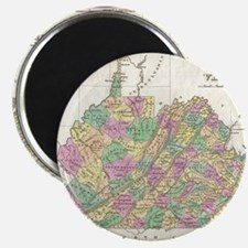 Vintage Map of Virginia (1827) Magnet