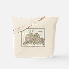 Vintage Map of Virginia (1827) Tote Bag