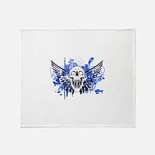 Flying Skull Distressed Throw Blanket