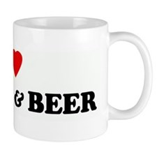 I Love TITTIES & BEER Mug