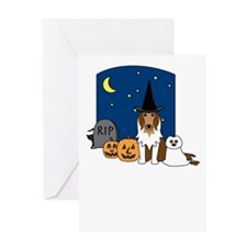 Rough Collie Halloween Greeting Card